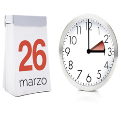 Cambio de hora el próximo día 26 de marzo