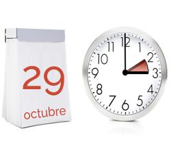 Cambio de hora el próximo día 29 de octubre