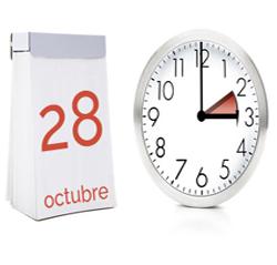 Cambio de hora próximo día 28 de octubre