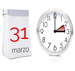 Cambio de hora del próximo día 31 de marzo