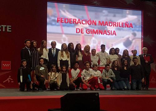 Galas del Deporte de la Comunidad de Madrid. Homenaje a los Gimnastas Madrileños.